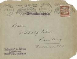 FG118    BRIEF  DRUCKSACHE  BESUCHT DIE DEUTCHE  SIEDLUNGSAUSSTELLUNG MUNCHEN 1934 - BRD