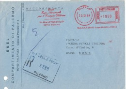 FG119    ENEL - Affrancatura Meccanica Rossa - 1984 - Affrancature Meccaniche Rosse (EMA)