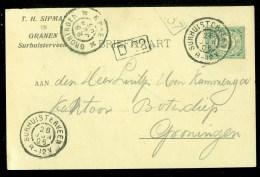 HANDGESCHREVEN BRIEFKAART Uit 1905 Van SURHUISTERVEEN Naar GRONINGEN (9839p) - Periode 1891-1948 (Wilhelmina)