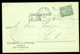 HANDGESCHREVEN BRIEFKAART Uit 1907 Van ROTTERDAM Naar HAARLEM (9839q) - Covers & Documents