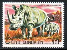 COMORES. N°173 De 1976. Rhinocéros. - Rhinozerosse