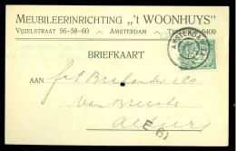 HANDGESCHREVEN BRIEFKAART Uit 1908 Van LOKAAL AMSTERDAM  (9840g) - Period 1891-1948 (Wilhelmina)