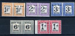 1938 - S.W.A. - NAMIBIA SudWestAfrica -Michel.  Nr. Servizio 69/76+77/78 - LH -  (PG2082015...) Acc. Orizzontale - Sin Clasificación