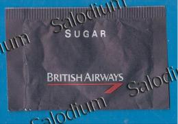 28505 - British Airways - Aereo Airplane - BUSTINA DI ZUCCHERO VUOTA - Sugar Empty - Sugars