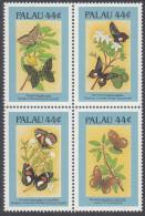 PALAU, 1987 BUTTERFLIES BLOCK 4 MNH - Palau