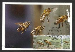 Portugal Apiculture Abeille Abeilles Miel Carte Maximum 2013 Beekeeping Bee Bees Honey Maxicard - Abeilles