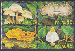 PALAU, 1989 FUNGI BLOCK  4 MNH - Palau