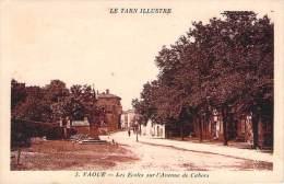 81 - Vaour - Les Ecoles Sur L'Avenue De Cahors - Vaour