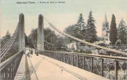 81 - Isle-sur-Tarn - Entrée Du Pont Et Clocher (ambulant Limoges à Toulouse) (colorisée) - Lisle Sur Tarn