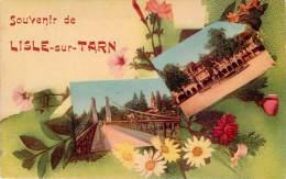81 - Lisle-sur-Tarn - Souvenir De Lisle-sur-Tarn (colorisée Vernie) - Lisle Sur Tarn