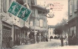 81 - L'Isle-sur-Tarn - Entrée De La Place, Maisons Des XVe Et XVIe Siècles (boucherie, Coiffeur, Epicerie) - Lisle Sur Tarn