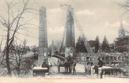 81 - L'Isle-sur-Tarn - Entrée Du Pont Et Clocher (attelage) - Lisle Sur Tarn