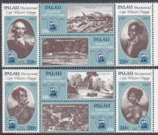 PALAU, 1983 CAPT WILSONS VOYAGE 8 MNH - Palau