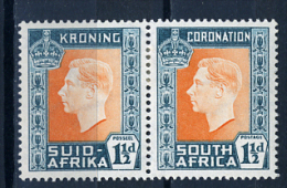 1937 - SUD AFRICA - SOUTH AFRICA - Yvert.  Nr. 85+80 - LH -  (PG2082015...) Acc. Orizzontale - Sud Africa (...-1961)