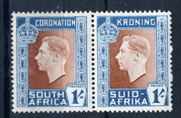 1937 - SUD AFRICA - SOUTH AFRICA - Yvert.  Nr. 87+82 - LH -  (PG2082015...) Acc. Orizzontale - Sud Africa (...-1961)