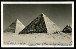 Foto Egypte, Pyramiden, Pyramids, 1953, Von Alexandria Nach Kitzbühel (Counte Karoly Palffy) - Sonstige
