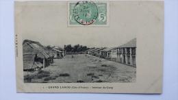 GRAND LAHOU Cote D'Ivoire INTERIEUR DU CAMP Afrique CPA Animee Postcard - Ivory Coast