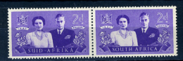 1947 - SUD AFRICA - SOUTH AFRICA - Yvert.  Nr. 164+161 - LH -  (PG2082015...) Acc. Orizzontale - Sud Africa (...-1961)
