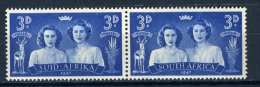 1947 - SUD AFRICA - SOUTH AFRICA - Yvert.  Nr. 165+162 - LH -  (PG2082015...) Acc. Orizzontale - Sud Africa (...-1961)
