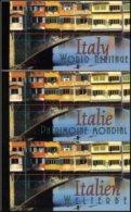 "ONU - Complete Set Of UN 2002 ""UNESCO World Heritage - Italia"" (NY)/(GE)/(WIEN) 3 Carnets/booklets ** MNH - UNO"