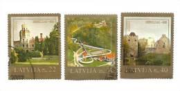 LATVIA-Sigulda-800-churc And Bobsley Track 2007 Used Full Set - Letland