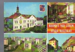P01 682 - 1989-  Brandys Nad Labem Stara Boleslav Rathaus, Turm,Rathaus   Mehrbild  - CZECHOSLOWAKIA - Other