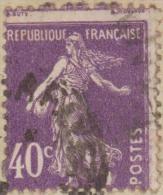 """France 1928. Y&T 236  Semeuse 40 C Violet. Piquage à Cheval Sur Carte """"une Semeuse Chinoise"""" - Variedades Y Curiosidades"""