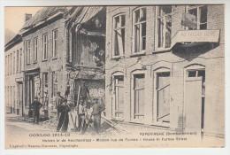 Poperinge, Poperinghe, Oorlog 1914-18, Huizen in de Veurnestraat (pk22424)