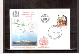 FDC Barbados - Queen's Silver Jubilee 1977 - Stamp Without Perforation ???  (to See) - Barbades (1966-...)