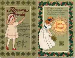 Illustrateur Hédé - Fillette Bonne Année, Nos Babys X 2 - Autres Illustrateurs