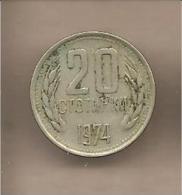 Bulgaria - Moneta Circolata Da 20 Stotinki - 1974 - Bulgaria