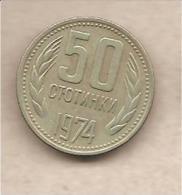 Bulgaria - Moneta Circolata Da 50 Stotinki - 1974 - Bulgaria