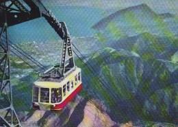 Japan - Mt Tsurumi National Park - Cable Car Old Postcard - Japan