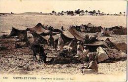 Afrique Du Nord     105    Campement De Nomade - Cartes Postales