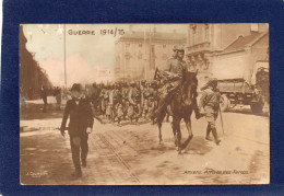 80. AMIENS. CARTE PHOTO. GUERRE 1914. ARRIVEE DES TURCOS. GROS PLAN. CHEVAL. CAMION. BELLE ANIMATION. - Amiens