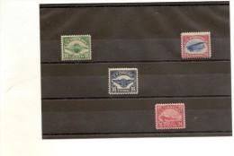Etats Unis PA N° 3  4 5 6 * Avec Charniére N° 5 Deuxieme Choix Avec Un Petit Clair, Sinon Fraicheur Postale ........... - Poste Aérienne