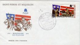 LBEL -ST PIERRE ET MIQUELON FDC 200° INDÉPENDANCE ETATS UNIS - St.Pierre Et Miquelon