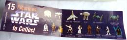 RARE NOTICE TOMBOLA STAR WARS  1997 Pas KINDER - Notices