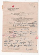 CROIX ROUGE 1945 PAPIER AGENCE CENTRALE DES PRISONNIERS DE GUERRE REQUETE DE LA CROIX ROUGE ALLEMANDE - Autres