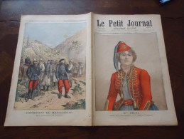 Du 21 Avril 1895 - Le Petit Journal Supplément Illustré - Madagascar, Les Uniformes De L'armée - Mlle Delna à L'opéra-co - 1850 - 1899