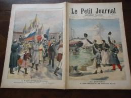 Du 28 Avril 1895 - Le Petit Journal Supplément Illustré - Au Revoir, à Nos Soldats De Madagascar - A Saint-Petersbourg, - 1850 - 1899