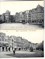 57  METZ  PLACE DE LA GARE ET SAINT LOUIS  -  TRAMWAYS - Metz