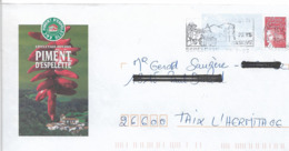 """Lettre  PAP  """"  Piment D ' Espelette   """" ( 64 )  Du  15-07-2003   Flamme  D ' Espelette  (64 )   Sur  Facsimilé  N° 3417 - Prêts-à-poster:Overprinting/Luquet"""