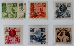 SERIE DES PIONNIERS 1936 - OBLITERES - YT 583/88 - MI 542C/47C - DENTELES 14 - Used Stamps