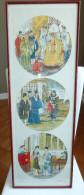 CHINE , CHINA / TABLEAU TRIPTYQUE CHINOIS ENCADRÉ, 1940 Inspiré De Jin Gu Qi Guan / Empereur Shenzong Dynastie Song - Asian Art