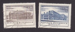 Austria, Scott #606-607, Used, Re-opening Of Burgtheater And Opera House, Issued 1955 - 1945-.... 2nd Republic