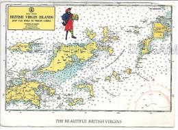 The Beautiful British Virgins. Carte Marine. - Vierges (Iles), Britann.