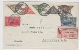 CR001a/ COSTA RICA -  Brief, Schön Frankiertes Einschreiben 1937cnach Deutschland - Costa Rica