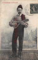66 - PERPIGNAN -  Carte Colorisée - Guitariste Catalan - 2 Scans - Perpignan