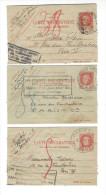 """CARTE PNEUMATIQUE, Lot 3  Documents 3 F Pétain , 1942  """" Les Pneumatiques Peuvent être Recommandés """""""